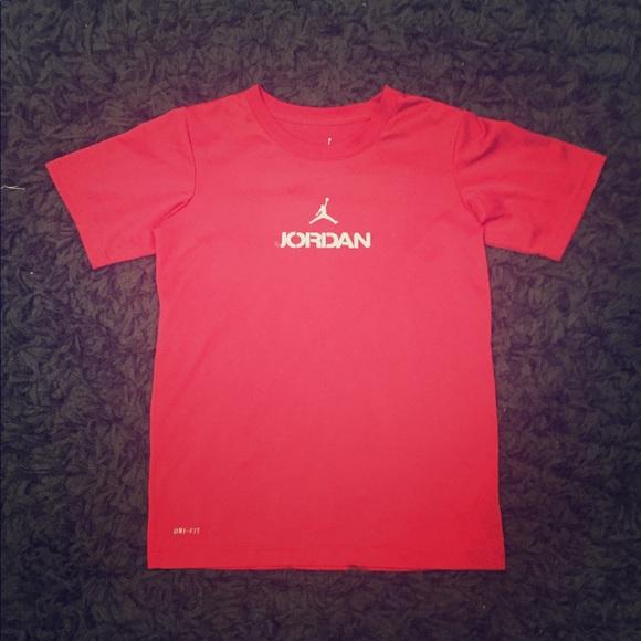 7eb63e92b88acd Jordan Other - Boy s Red Jordan Dri-Fit T-Shirt